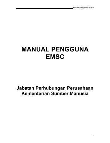 MANUAL PENGGUNA - Kementerian Sumber Manusia
