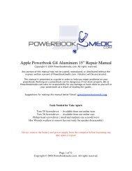 """Apple Powerbook G4 Aluminum 15"""" Repair ... - Powerbook Medic"""