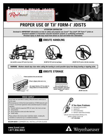 Tji 110 210 230 360 and 560 joist specifieru0027s guide for Tji 210