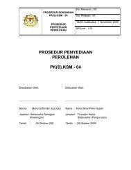 Prosedur Penyediaan Perolehan - Kementerian Sumber Manusia