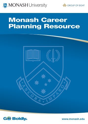 Monash Career Planning Resource - Adm.monash.edu