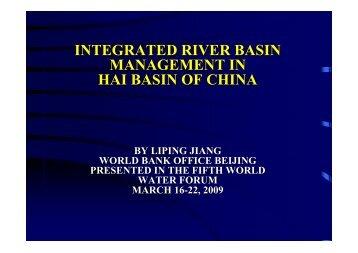 integrated river basin management in hai basin of china - INBO