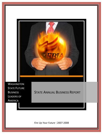 STATE ANNUAL BUSINESS REPORT - Washington Future ...