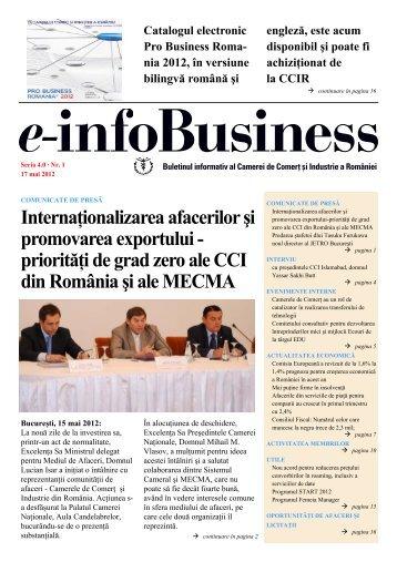 e-infoBusiness nr. 15/17.05.2012 - Camera de Comert si Industrie a ...