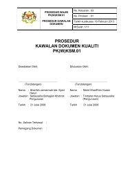 Prosedur Kawalan Dokumen Kualiti - Kementerian Sumber Manusia