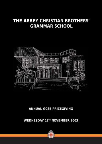GCSE Awards Booklet - The Abbey Christian Brothers' Grammar ...