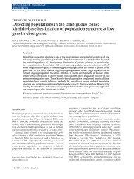 Palsbøll et al (2010) - University of Wisconsin–Madison