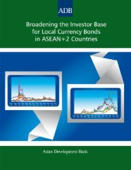 Broadening the Investor Base for Local Currency Bonds in ASEAN+ ...