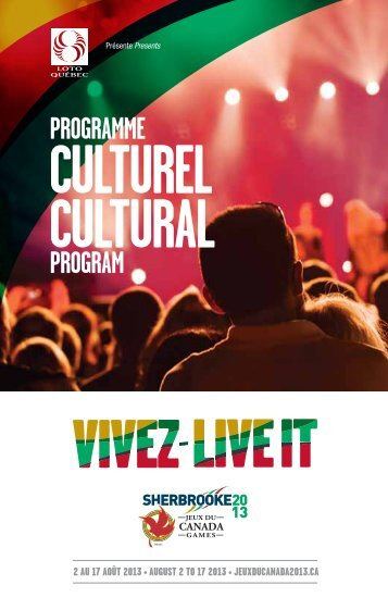Programme culturel - Government of New Brunswick
