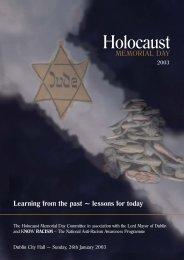 Lynn Jackson brochure - Holocaust Education Trust Ireland