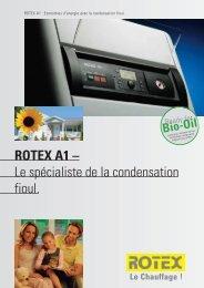 ROTEX A1 – Le spécialiste de la condensation fioul. - Av2l.fr