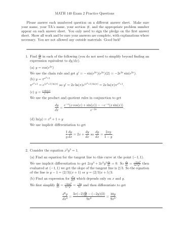 Practice Exam 2 with solutions