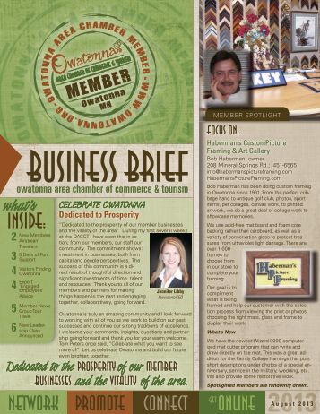 View Website - Owatonna Chamber of Commerce and Tourism