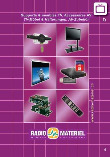 w w w .ra d io -m a te rie l.c h Supports & meubles TV, Accessoires ...