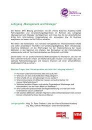"""Lehrgang """"Management und Strategie"""" - Wiener Bildung"""
