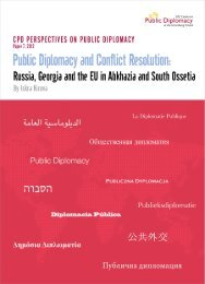 Public Diplomacy and Conflict Resolution - USC Center on Public ...