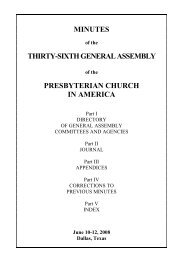 Minutes of the 36th General Assembly of the Presbyterian Church in ...