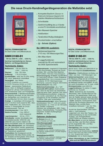 Die neue Druck-Handmeßgerätegeneration die Maßstäbe ... - nl3prc