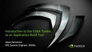 Introduction to the CUDA Toolkit as an Application Build Tool