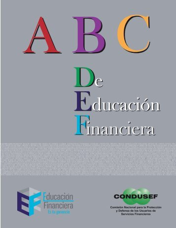 ABC de educación Financiera - Condusef