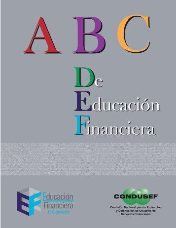 ABC de educación Financiera - Condusef