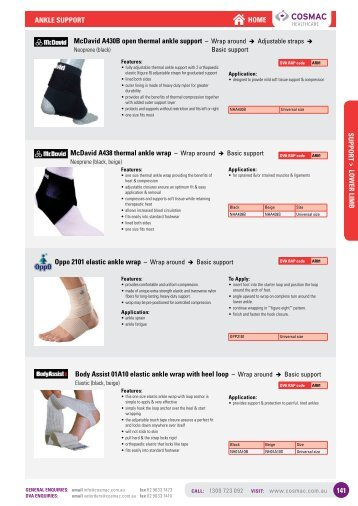 Ankle Supports & Braces - Cosmac