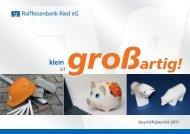 Geschäftsbericht 2011 - Raiffeisenbank Ried eG