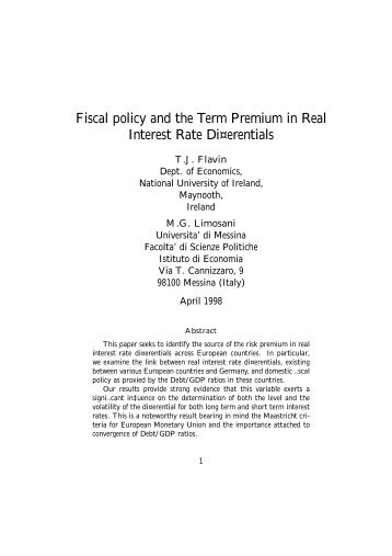 Fiscal policy and the Term Premium in Real Interest Rate Differentials