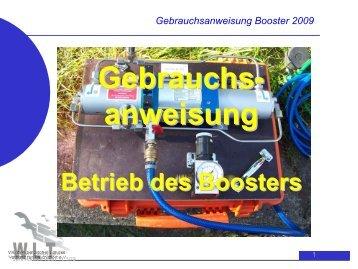 Gebrauchsanweisung Booster 2009 - WLT