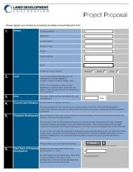 Project Proposal Form - Land Development Corporation - Northern ...