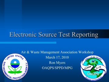 Electronic Source Test Reporting - Indiana Air & Waste Management ...