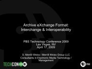 Optimizing Archival Storage and HDTV Conversions (Weiss) - PBS