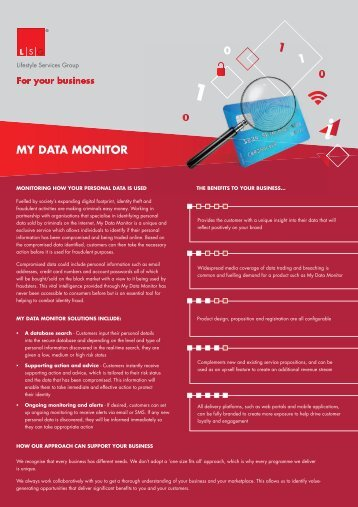 MY DATA MONITOR - Lifestyle Services Group Ltd