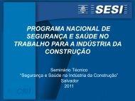 programa nacional de segurança e saúde no ... - Trabalho e Vida