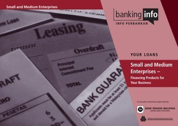 Download the booklet on SME - financing products for - Banking Info
