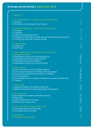 Exchange period abroad   Guide 2012–2013