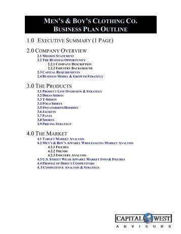 business outline