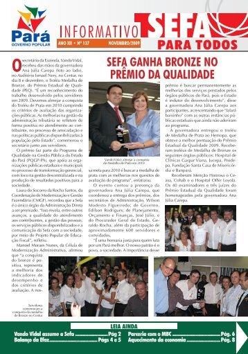 Informativo nº 137 - Sefa - Governo do Estado do Pará