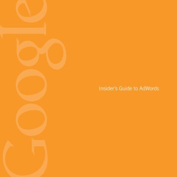 Insider's Guide to AdWords - bertina.us