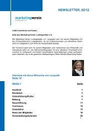 NEWSLETTER_02/12 - Marketing-Verein Ludwigshafen eV