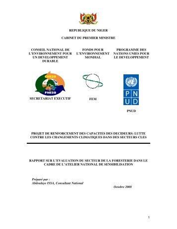 1 republique du niger cabinet du premier ministre ... - UNDPCC.org on