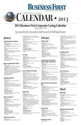 2013 Business First Corporate Caring Calendar (Updated June 6 ...