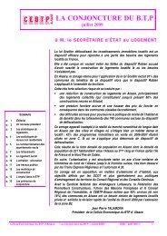 Tendances en juillet 2009 - Cellule Économique du Bâtiment et des ...