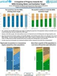 A Snapshot of Progress towards the MDG Drinking ... - Childinfo.org