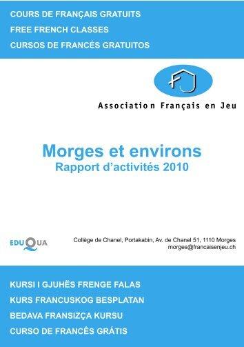 Morges et environs - Association français en Jeu