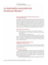 La dystrophie musculaire de Duchenne / Becker * - Moteurline - APF