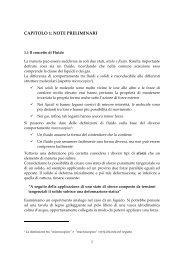 CAPITOLO 1: NOTE PRELIMINARI - Dimeca