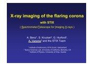 X-ray imaging of the flaring corona