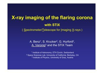 X-ray imaging of the flaring corona