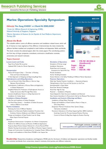 Marine Operations Specialty Symposium - Research Publishing ...